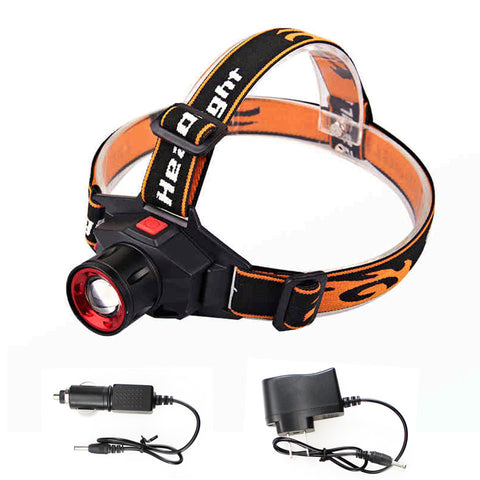 LED Headlamp - Cree Q5 - Waterproof - 1000lm - Built-in Lithium Battery - Rechargeable -  Zoomable
