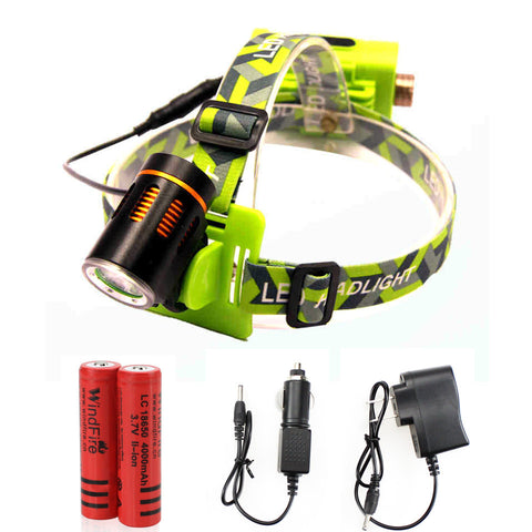 T6 LED Headlight - Cree - T6 - Waterproof - 2000lm - Rechargeable - 4 Modes