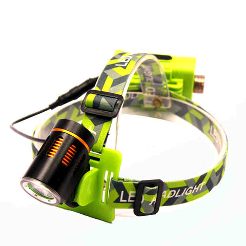 T6 LED Headlamp - Cree - T6 - Waterproof - 2000lm - rechargeable - 4 Modes