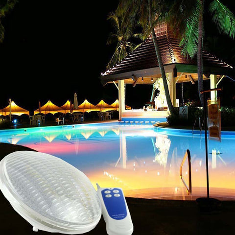 LED Swimming Pool Light - 24W 12V - IP68 351 LEDs - Outdoor Lighting - Underwater Pond Lights