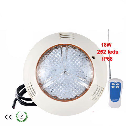 5x LED Swimming Pool Light 12V 18W - RGB - IP68 - 252 LEDs + remote controller