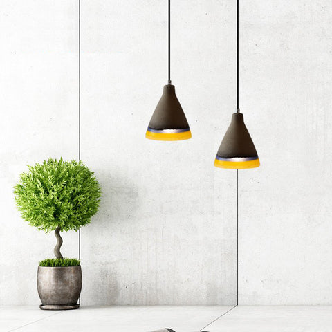 Modern Pendant Light - American Country Vintage - Cement Hanging Lamp - 120cm