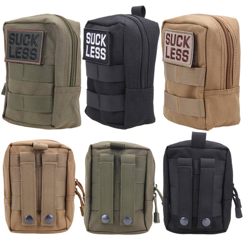 600D Durable Nylon Sports Outdoor Bag - Utility Military Tactical - Waist Bag - Tool Zipper