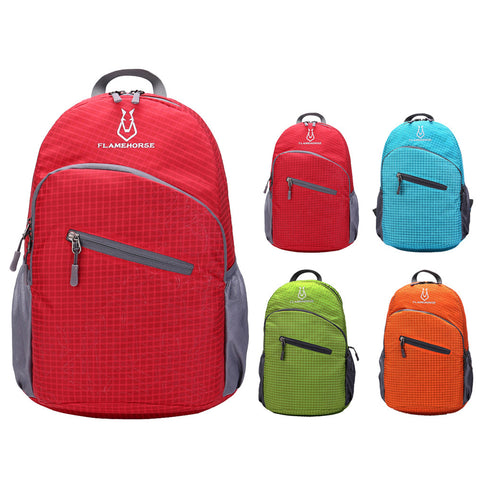 Unisex Outdoor Foldable Lightweight Backpack - Waterproof - Nylon - 4 Colors