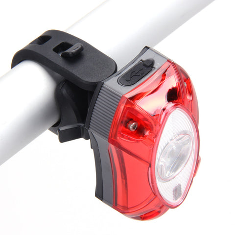 3W LED USB Rechargeable Rear Back Bicycle Light - Waterproof - 3 Modes