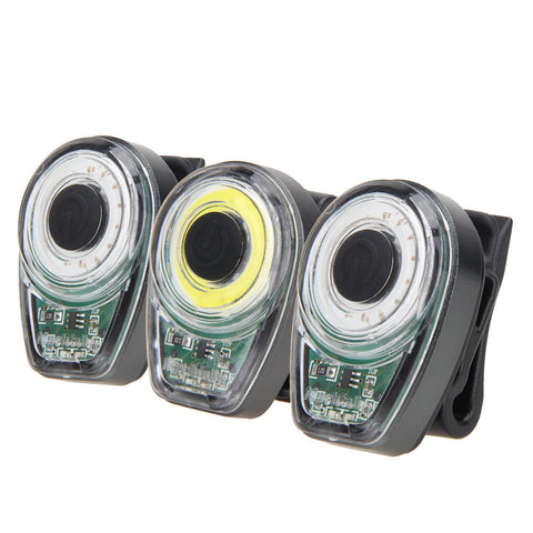 100 Lumen LED Rear Bicycle Tail Light - 6 Modes - USB Rechargeable - Built-in Battery