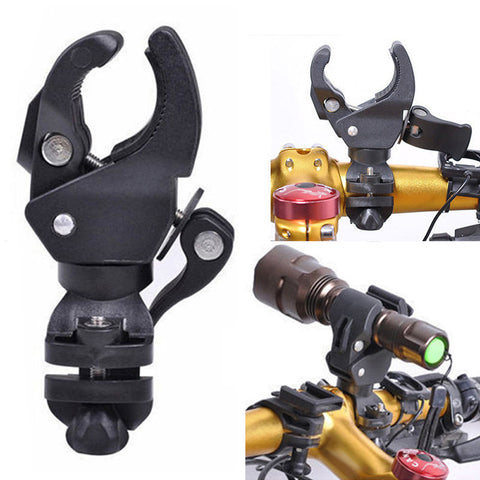 Plastic Bike Bicycle LED Flashlight Bracket Mount - Flashlight Holder - Front Light Clip