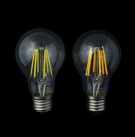 Superior Quality LED Filament Bulb - E27 2W/4W/6W/8W - Glass Cover - COB Lamp