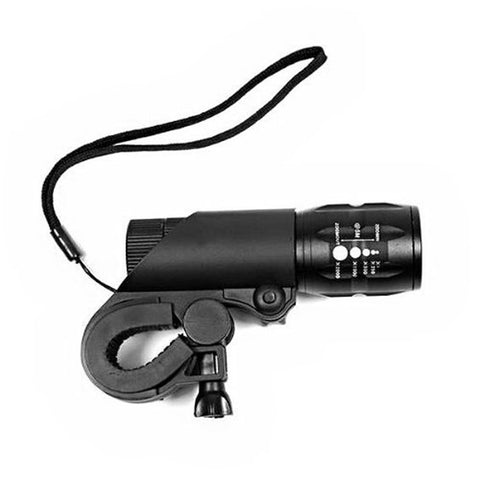 LED Bicycle Light - 240 Lumens - Q5 - With Mount - Multi-purpose - 3 Modes