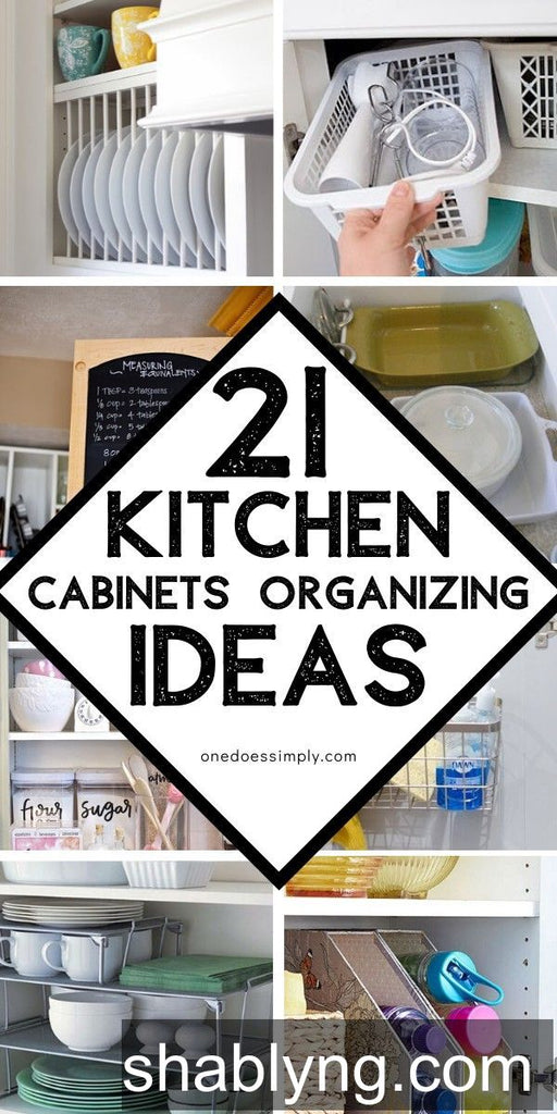 Organize your kitchen cabinets efficiently and make things easy to access!! These kitchen cabinets organization ideas are so great! Check them out and try your favorite ideas at home!  😉