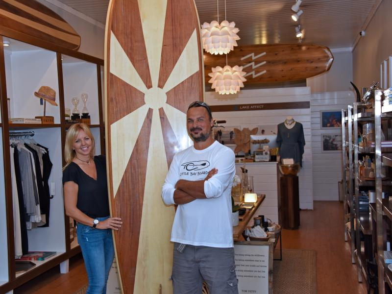 Catch a wave: Little Bay Boards' paddleboards are also works of art