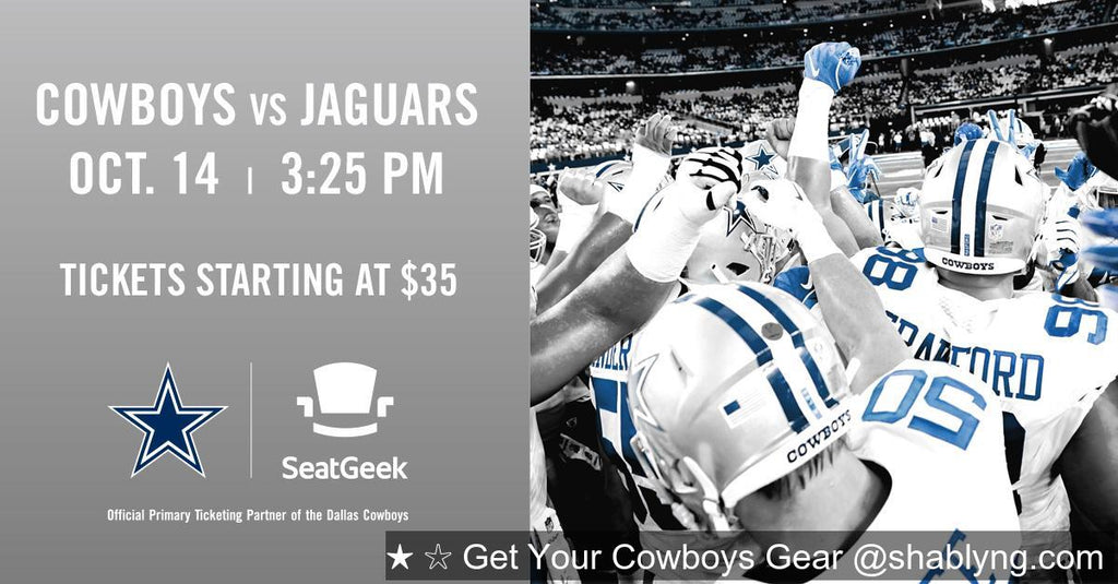 The #DallasCowboys are taking on the Jacksonville Jaguars on Sunday, Oct