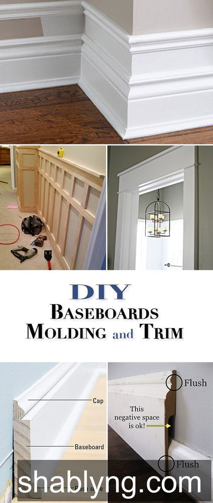 DIY Baseboards, Molding and Trim • One of the best home improvement projects for the DIY'er, learn to install your own wood trim! #howto #howtoinstallbaseboard #diybaseboard #diymolding #diytrim #diy