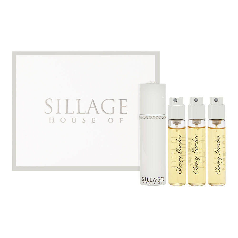 House of Sillage Cherry Garden Extrait de Parfum Travel Spray with 4 Refills 4 x 9.5 ml / 4 x 0.32 oz