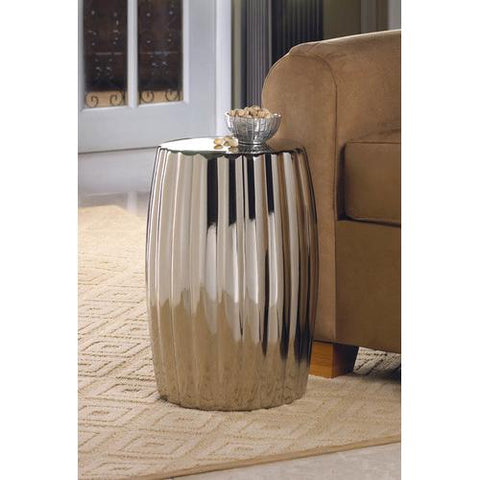 Image of Silver Decorative Stool
