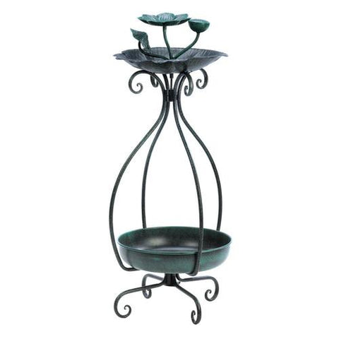 Image of Metal Birdfeeder and Planter