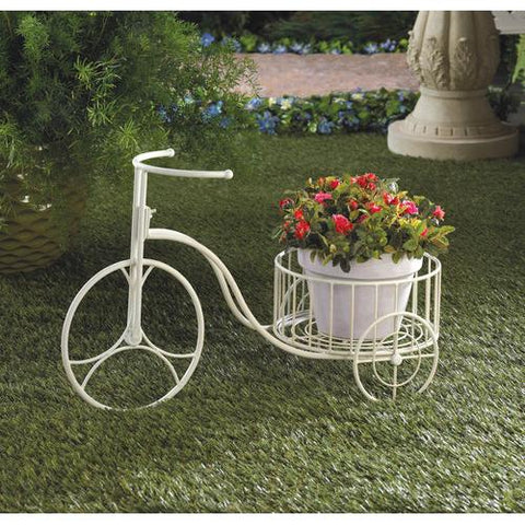 Image of White Tricycle Planter
