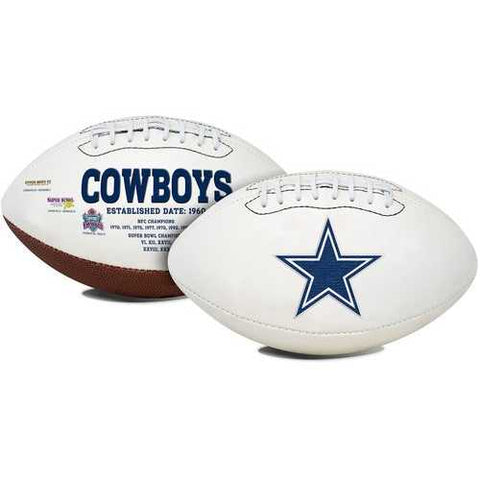 Dallas Cowboys Football Full Size Embroidered Signature Series