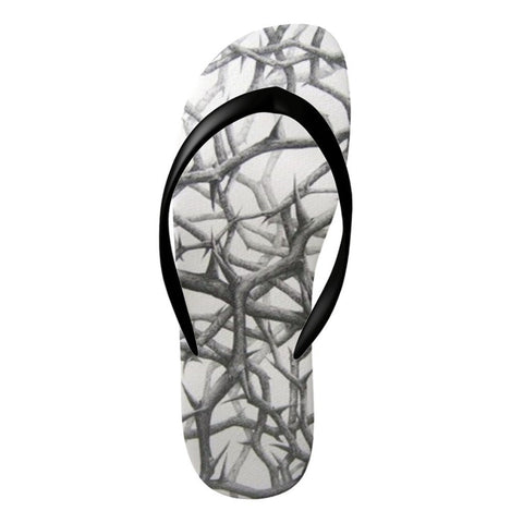 Flinchies (TM) Thorn Flip Flops