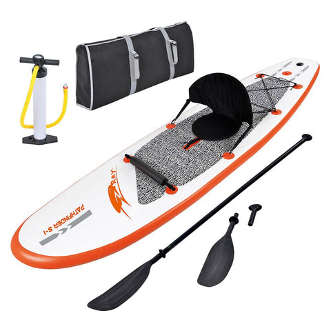 Image of Blue Wave Sports Stingray 10-foot Inflatable Paddle Board with Paddle & Hand Pump
