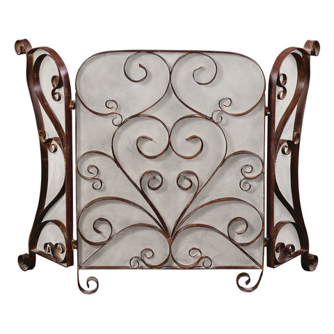 Uttermost Daymeion Scroll Fireplace Screen
