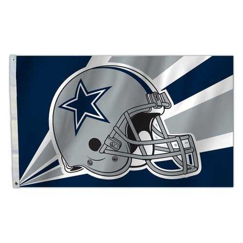 Dallas Cowboys Flag 3x5 Helmet Design
