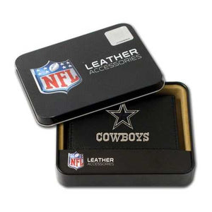 Dallas Cowboys Embroidered Leather Tri-Fold Wallet