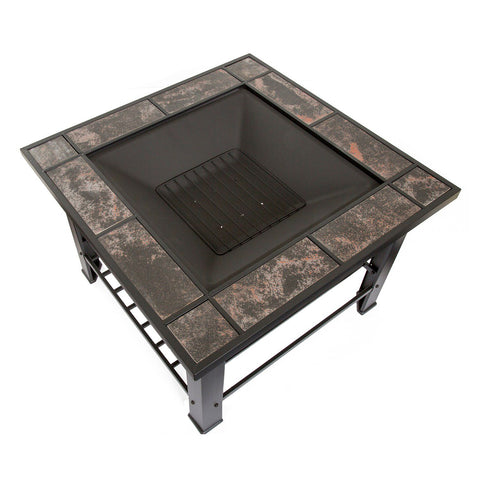 "Image of Navarro 30"" Square Table Fire Pit"