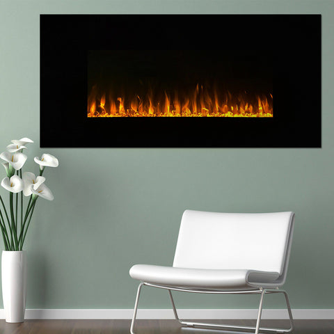 "Image of Northwest 42"" LED Fire & Ice Electric Fireplace & Remote"