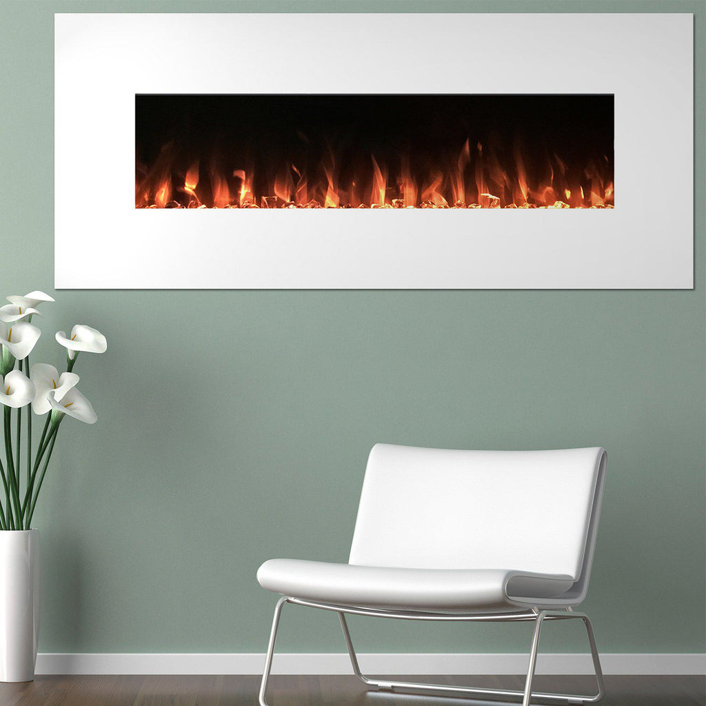 "Northwest 50"" Electric Color Changing Wall Mount Fireplace"