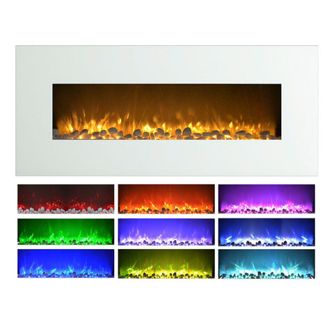 "Image of Northwest 50"" Electric Color Changing Wall Mount Fireplace"
