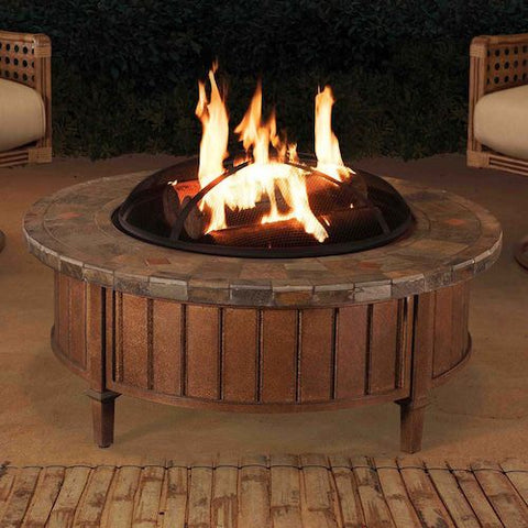Image of Sunjoy Round Slate Top Fire Pit