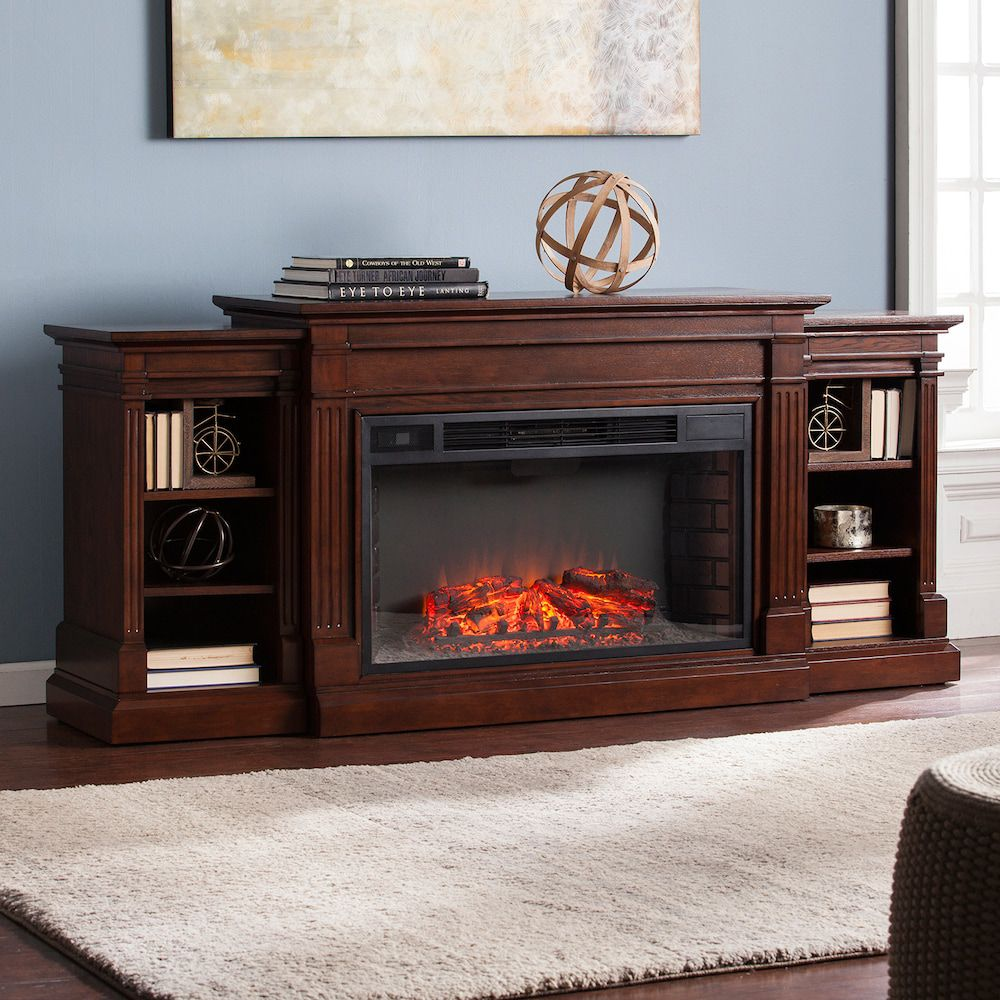 Raymond Bookcase Electric Fireplace