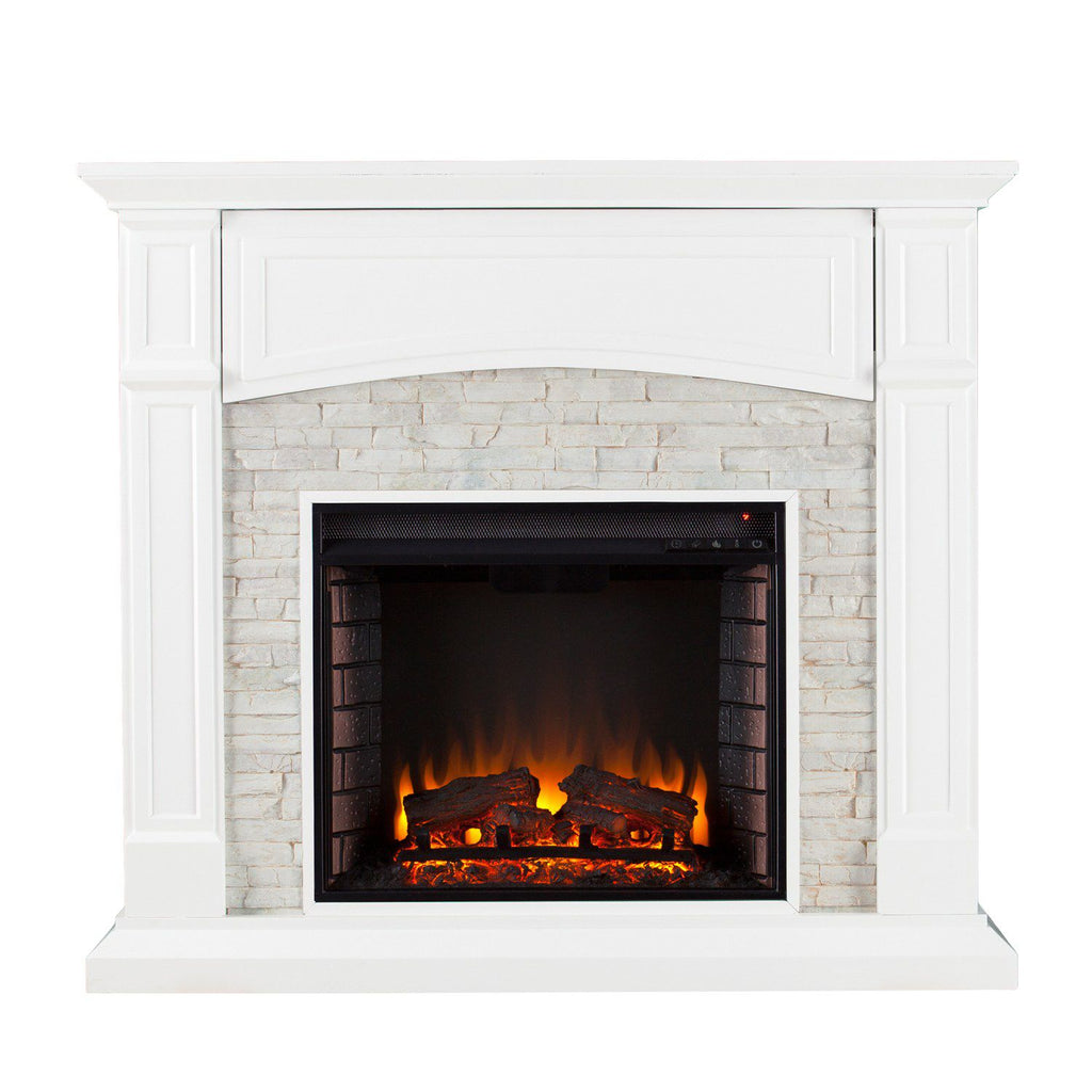 Shannon Faux Stone Electric Fireplace