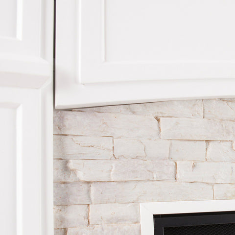 Image of Shannon Faux Stone Electric Fireplace