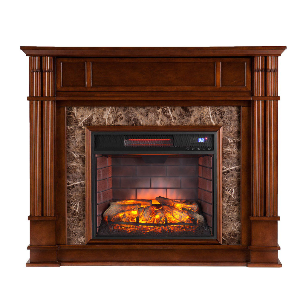 LeBlanc Infrared Electric Fireplace