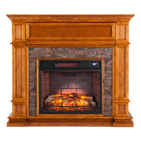 Image of Gordon Faux Stone Infrared Electric Fireplace