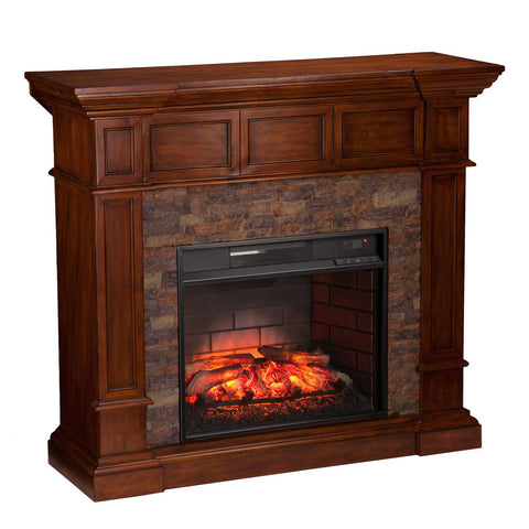 Image of Schaefer Convertible Infrared Electric Fireplace
