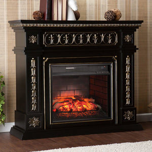 Spenser Embellished Infrared Electric Fireplace