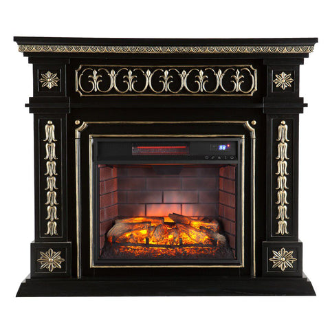 Image of Spenser Embellished Infrared Electric Fireplace