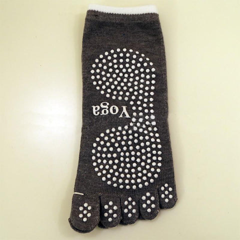 Cotton Non Slip Yoga Toe Socks