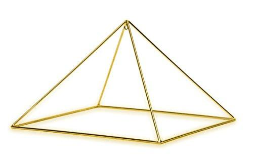 Gold-plated Copper Meditation Pyramid for Healing