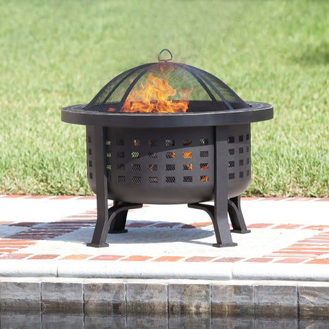 Image of Fire Sense Alpina Round Outdoor Fire Pit
