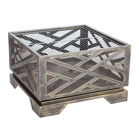 Image of Fire Sense Catalano Outdoor Square Fire Pit