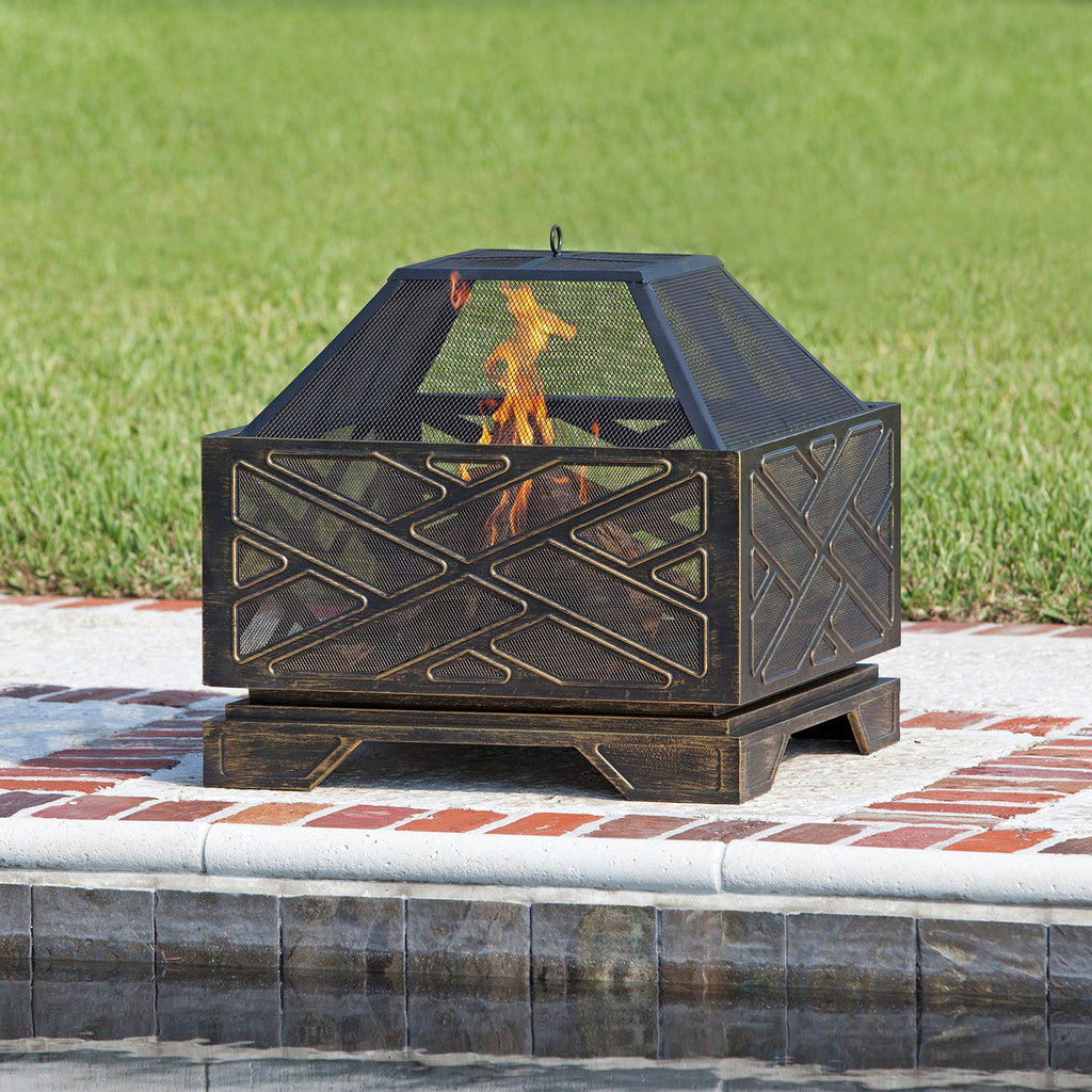 Fire Sense Catalano Outdoor Square Fire Pit