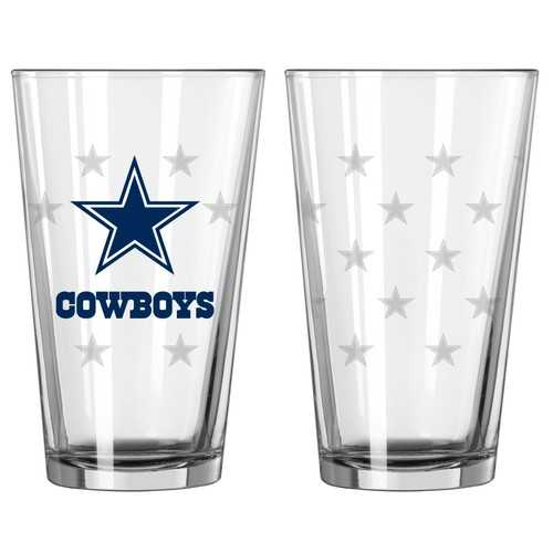 Dallas Cowboys Satin Etch Pint Glass Set