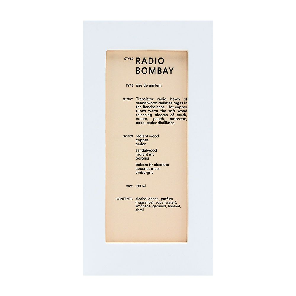 Radio Bombay by D.S & Durga for Unisex