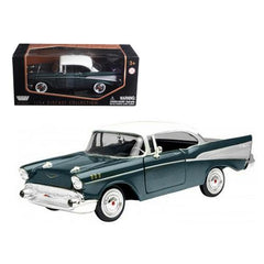 1957 Chevrolet Bel Air Green 1/24 Diecast Model Car by Motormax