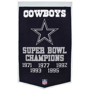 Dallas Cowboys Banner 24x36 Wool Dynasty