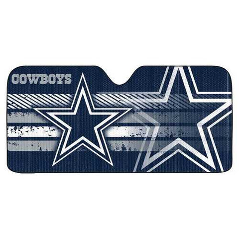 "Dallas Cowboys Auto Sun Shade - 59""x27"""
